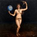 Alberto Lipari - Ipazia l'astronoma - acrilico su tela - cm 50x50 - 2020