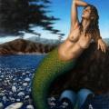 Alberto Lipari - Sirena contemporanea - olio su pannello - cm 24x30 - 2020
