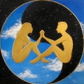 Alberto Lipari - Unione celestiale - acrilici su tela - cm 70x70  - 2012