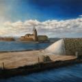 Alberto Lipari - Vista delle saline - olio su tela - 100x70 - 2015