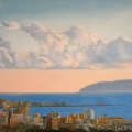 Alberto Lipari - Vista di Trapani con nuvole - olio su tela - cm 70x50 - 2013