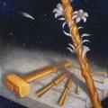 Alberto Lipari - Il mestiere e la fede - acrilici su tela - cm 50x70 - 2010