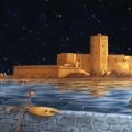 Alberto Lipari - La Colombaia, sogno di una rinascita - acrilico su tela - cm 100x70 - 2010