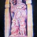 Alberto Lipari - Omaggio al Milanti, la Carità - pastelli e acquerello su carta - cm 50x70 -  2010 collezione convento S. Francesco