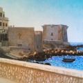 Alberto Lipari - Torre di Ligny, veduta - olio su tela - cm 100x70 - collezione privata