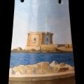 Alberto Lipari - Veduta della Torre - olio su ceramica - 2013 - collezione privata