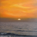 Alberto Lipari - Tramonto sul lungomare - olio su tela - cm 40x60 - 2012