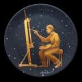 Alberto Lipari - il pittore - acrilico su ceramica - diam.20 cm - 2013
