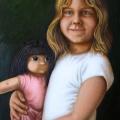Alberto Lipari - Ritratto di Sabrina - olio su tela - cm 50x70 - 2009 collezione privata