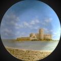 Alberto Lipari - Veduta della Colombaia - olio su ceramica - 2010