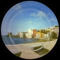 Alberto Lipari - Veduta della Torre di Ligny - olio su ceramica - 2010
