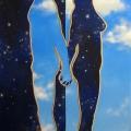 Alberto Lipari-L'altra metà del cielo-acrilici su tela-50x100