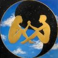 Alberto Lipari-Unione celestiale-acrilici su tela-70x70 collezione privata
