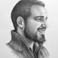 Alberto Lipari - Ritratto del baritono Alberto Crapanzano - grafite su carta - cm 33x48 - 2017