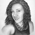 Alberto Lipari - Ritratto della ballerina Giada Spanò - grafite su carta - cm 40x50 - 2018