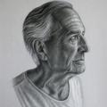 Alberto Lipari - Ritratto di Antonio Guastavigna, mio zio - carboncino e gesso su carta grigia - cm35x50 - 2021