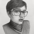 Alberto Lipari - Ritratto di Silvia - grafite su carta - cm 35x50 - 2019