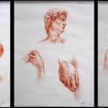 Alberto Lipari - studi - sanguigna su carta - 2004