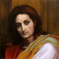 Alberto Lipari - studio da A. Del Sarto, Madonna delle Arpie - olio su tela - 2007